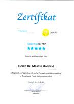 Zertifikat  PRP  medicallounge