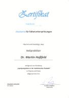 Zertifikat  Injektionslipolyse  medicallounge
